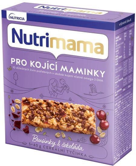 Nutrimama cereální tyčinky Brusinky & Čokoláda 4x 200 g