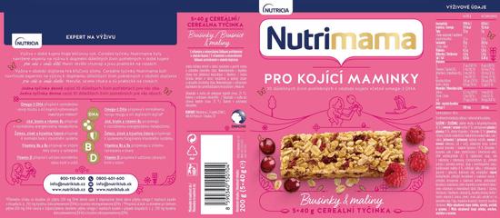 Nutrimama cereální tyčinky Brusinky & Maliny 4x 200 g