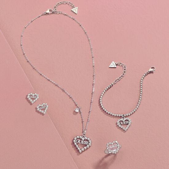 Guess Trblietavý srdiečkový náhrdelník UBN70072