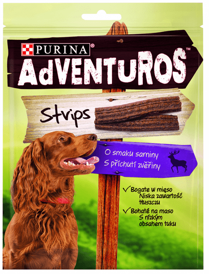 Purina ADVENTUROS Strips Jutalomfalat, 6 x 90g