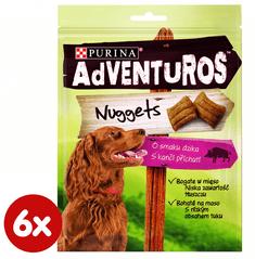 Purina ADVENTUROS Nuggets Jutalomfalat, 6 x 90g