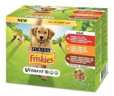 Friskies Dog Adult Multipack hovězí/kuře/jehněčí v želé 72 x 100 g