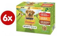 Friskies ADULT Dog multipack hovädzie/kura/jahňacie v želé 6x (12x100g)