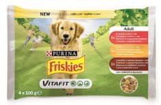 Friskies karma dla psów ADULT Dog multipack wołowina/kurczak/jagnięcina w galarecie 10 x (4 x 100 g)