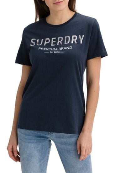 Superdry Tričko Premium Sequin Entry Tee