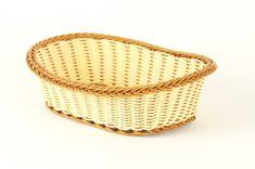 Makro Košík pletený dvofarebný ovál