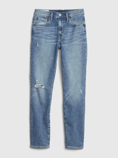 Gap Jeans hlače mid rise distressed true skinny