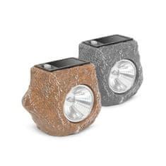 GARDEN OF EDEN Solarna LED svetilka v obliki kamna