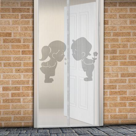Delight Magnetna zavesa proti komarjem za vrata 100 x 210 cm - fant + punca