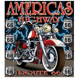 BrinX.cz Route 66 Americas Highway - nové motorkářské tričko