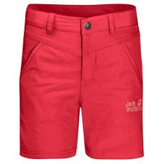 Jack Wolfskin dekliške kratke hlače Sun Shorts Kids 1605613_1, 116, rdeče