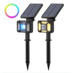 Blitzwolf BW-OLT5 RGB LED sončna svetilka, črna