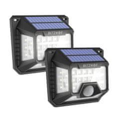 Blitzwolf BW-OLT3 2x LED sončna svetilka z detektorjem gibanja , črna