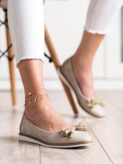 Női balerina cipő 69959, sárga és arany árnyalat, 36