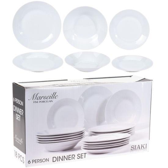 Koopman Porcelánová súprava tanierov MARSEILLE 18 ks