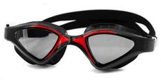 Raptor plavalna očala, črna/rdeča