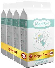 MonPeri pieluchy ECO comfort Mega Pack M, 5-9 kg (224 szt.)