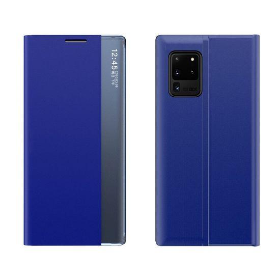MG Sleep Case usnjeni ovitek za Samsung Galaxy A52 5G/4G, modra