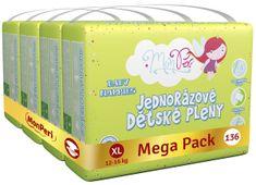 MonPeri Klasik Mega Pack XL, 12-16 kg (136 ks)