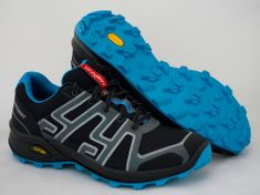 Grisport 13101 nizki treking čevlji, črno/modris sivimi okrasnimi deli, 41