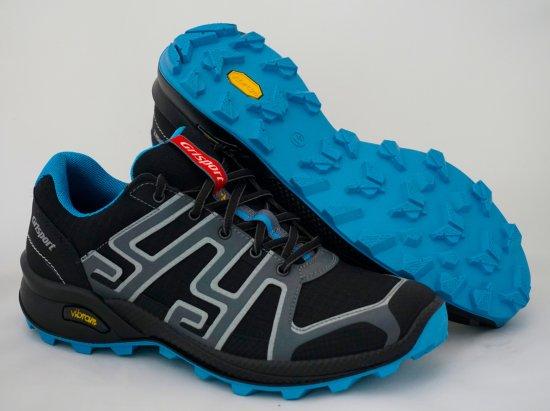 Grisport 13101 nizki treking čevlji, črno/modris sivimi okrasnimi deli
