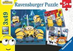 Ravensburger Minioni 2 sestavljanka, 3x 49 delov