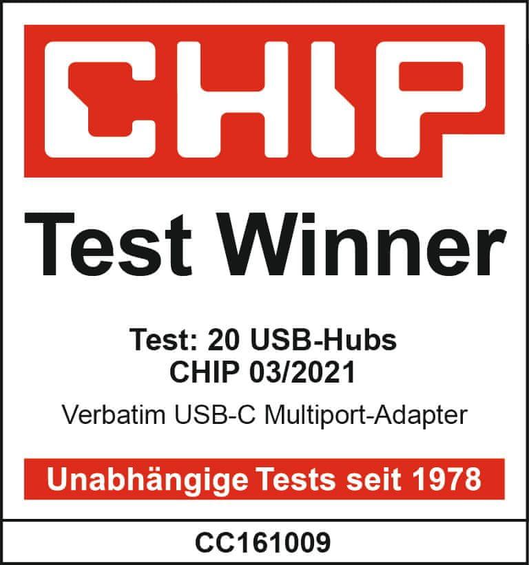 Verbatim Víceportový rozbočovač USB-C, USB 3.1 GEN 1 / 3× USB 3.0 / HDMI / SDHC / MicroSDHC / RJ45 (49142)