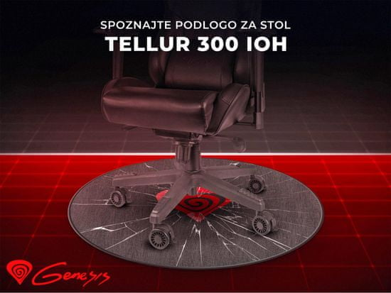 Genesis Tellur 300 Inception Of Hero podloga za stol, 100 cm