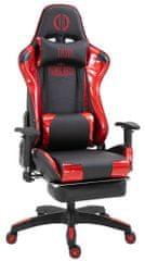 BHM Germany Herní křeslo Turbo Lesk, černá / červená