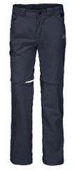 Jack Wolfskin spodnie chłopięce z odpinanymi nogawkami Safari Zip Off Pants Kids 1605871, 152 ciemnoniebieskie