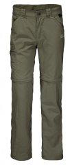 Jack Wolfskin spodnie dziecięce z odpinanymi nogawkami Safari Zip Off Pants Kids 1605871_1, 92 khaki