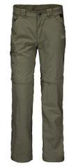 Jack Wolfskin spodnie dziecięce z odpinanymi nogawkami Safari Zip Off Pants Kids 1605871_1, 140 khaki
