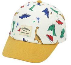 Maximo chlapecká kšiltovka s dinosaury 47 bílá