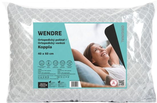 Wendre Koppla ortopedický vankúš 40 × 60 cm, sivá