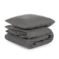 TomLinen Lněné povlečení Dark Grey 140x200, 50x70