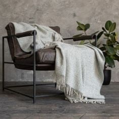 LinenMe Blue Wool Throw Bruno