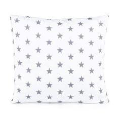 TomLinen Povlak na polštář Hvězdička šedá na bílém 50x50cm.