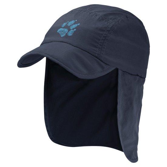 Jack Wolfskin Supplex Canyon Cap Kids 1905901 fantovska kapa z zaščito za vrat in UV zaščito
