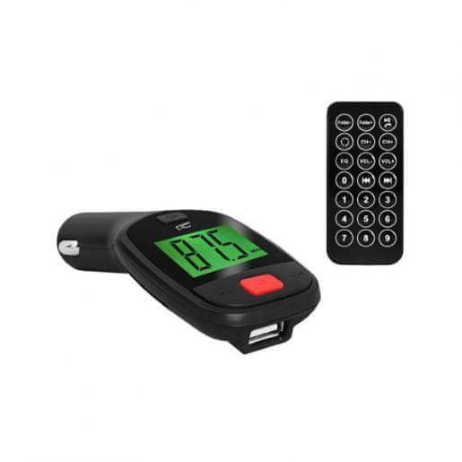 LTC FM oddajnik za avto MP3 USB AUX z daljincem 12/24V