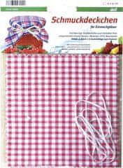 Gastrozone Okrasné dečky sukýnky a gumičky na zavařovací sklenice 6 ks, různý design
