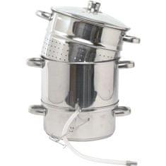 Gastrozone Parní odšťavňovač s hadicí a skleněná poklice, nerez, i pro indukci
