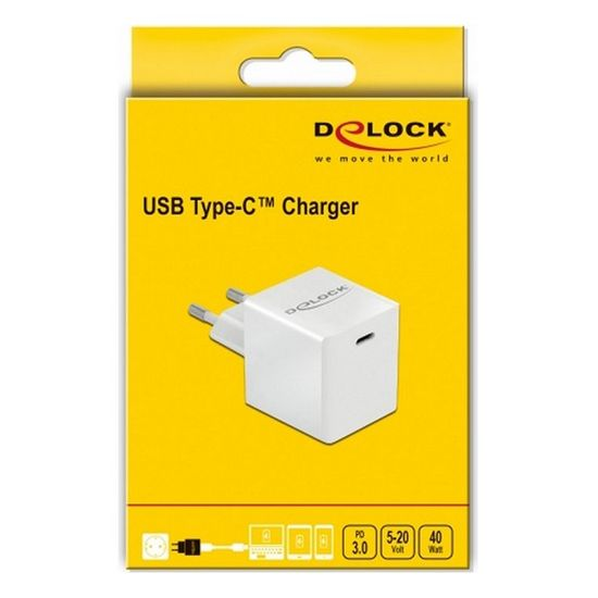 Delock USB stenski polnilnik 41446