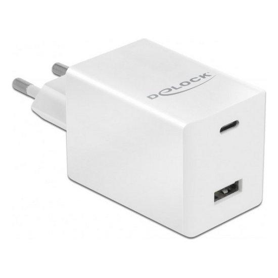 Delock USB stenski polnilnik 41448