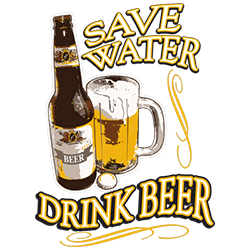 BrinX.cz Save Water, Drink Beer - Výprodej nová pánská trička