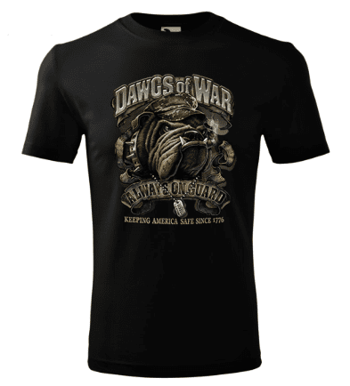 BrinX.cz Nové vojenské tričko DAWGS OF WAR