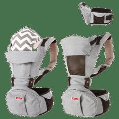 Sinbii Nosítko pro mimina Sinbii Premium Hipseat S-Pocket Set, Šedá