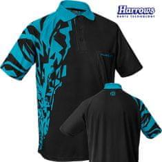 Harrows Košile Rapide - Black & Aqua Blue - S