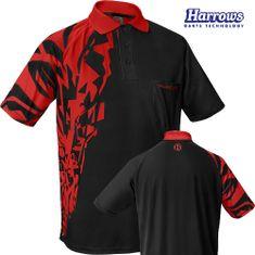 Harrows Košile Rapide - Black & Red - M