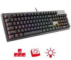 Genesis Thor 300 RGB gaming tipkovnica, Outemu Brown, RGB, US
