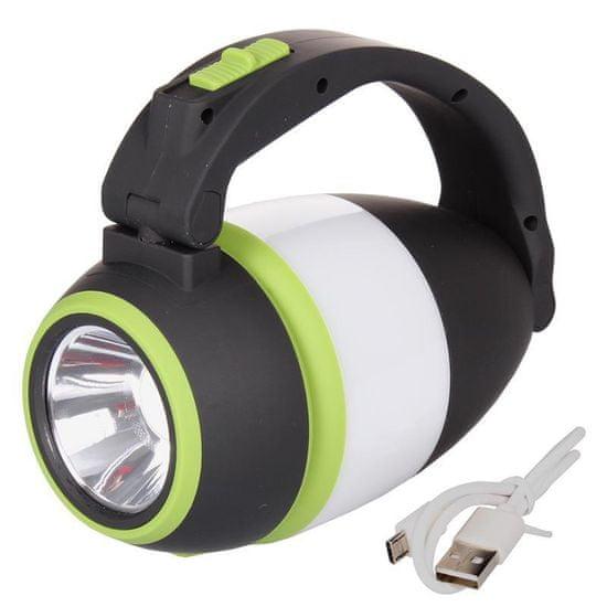 Merco svjetiljka za kampiranje, crno-zelena